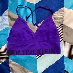 Calvin Klein purple sports bra